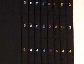 Svarta A4 pappersregister med valfri pagineringsfärg.